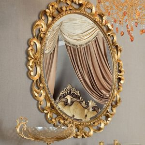 Figured-mirror-and-solid-wood-toilette-with-padded-pouf-Bella-Vita-collection-Modenese-Gastone