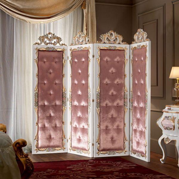 Four-panel-folding-screen-luxury-classical-style-Villa-Venezia-collection-Modenese-Gastone