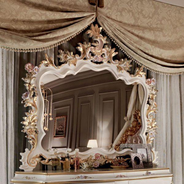 Figured-mirror-hardwood-dresser-painting-and-inlays-Villa-Venezia-collection-Modenese-Gastone